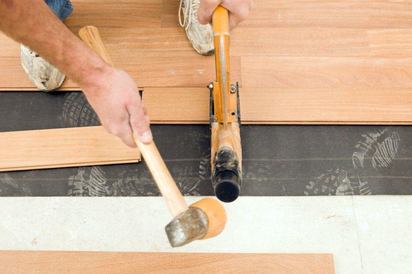 Installing Solid Hardwood Flooring Image Courtesy Of