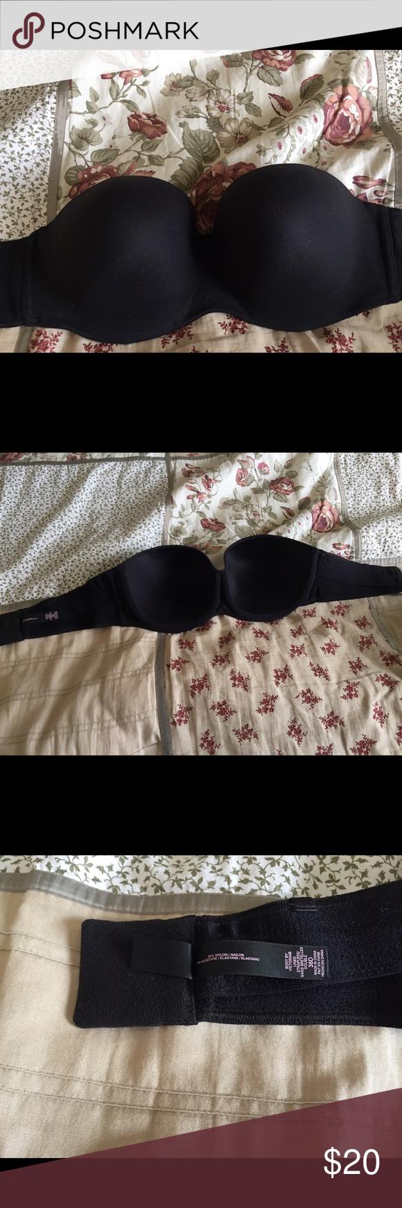 Body by Victoria secret strapless bra. 36d. Black strapless bra. It is hardly used. 36d Victoria's Secret Intimates & Sleepwear Bras