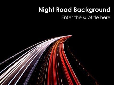 Night Road Powerpoint Black Powerpoint Templates Pinterest Ppt
