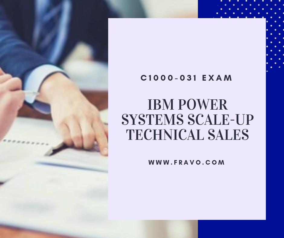 C1000031 IBM Power Systems ScaleUp Technical Sales