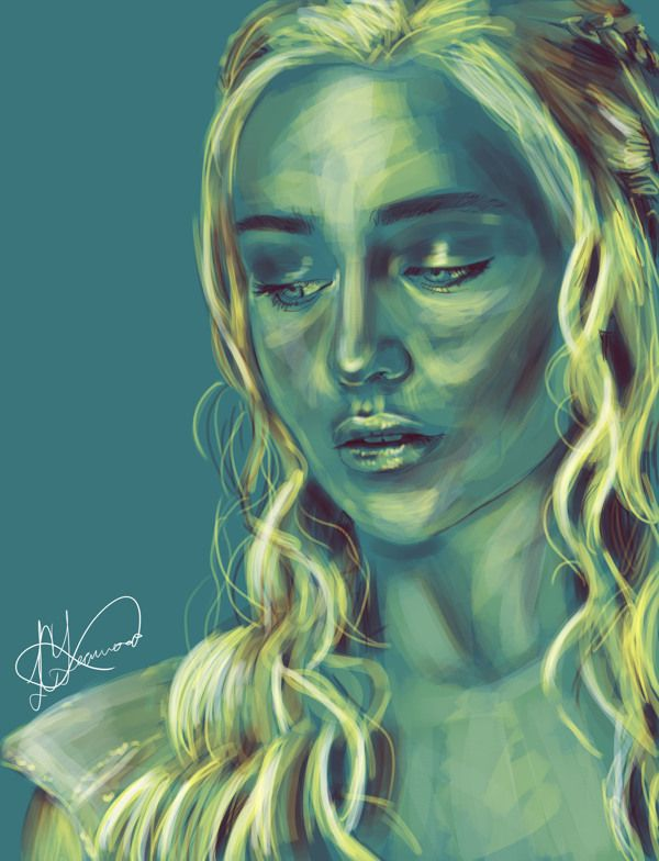 Game of Thrones Portraits by Lily Yearwood, via Behance