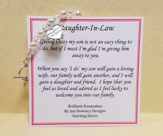 Future Daughter In Law Wedding Gift Bracelet by ...