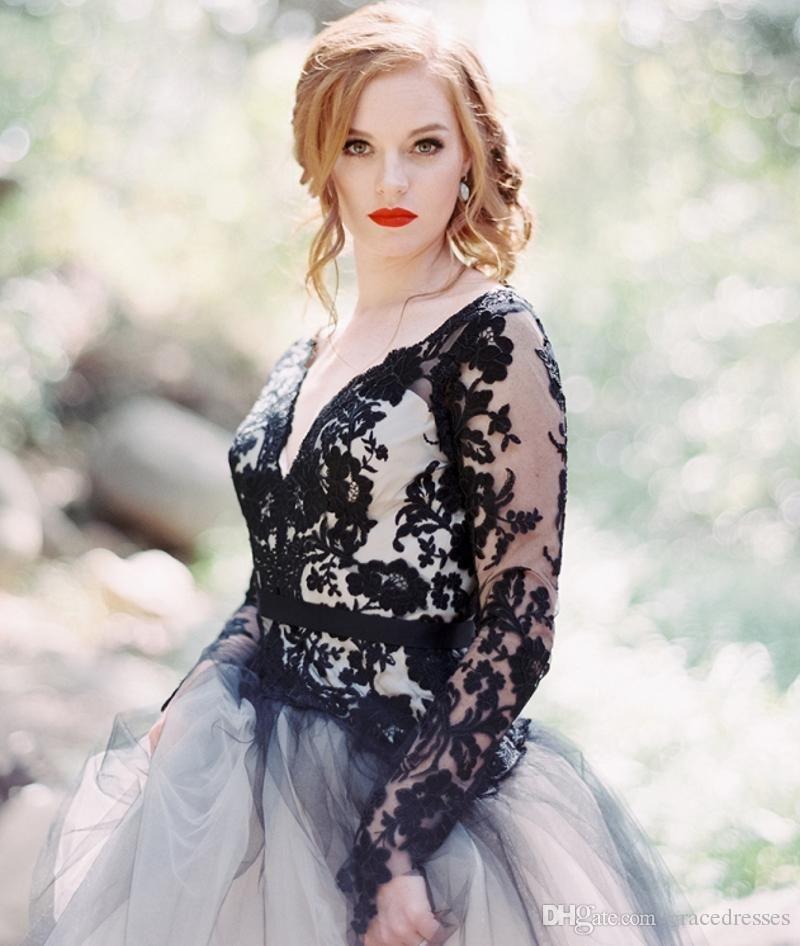 Gothic wedding dresses white and blue