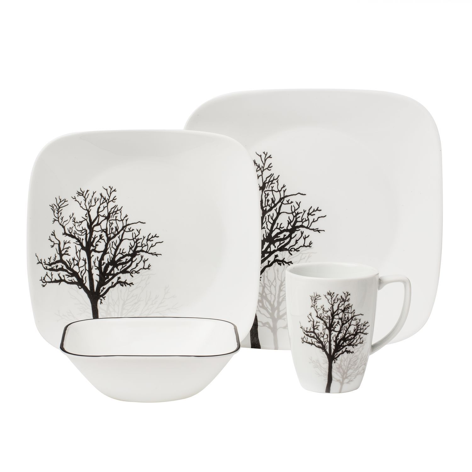 Corelle® Square™ Timber Shadows 16-pc Dinnerware Set - Corelle | For ...