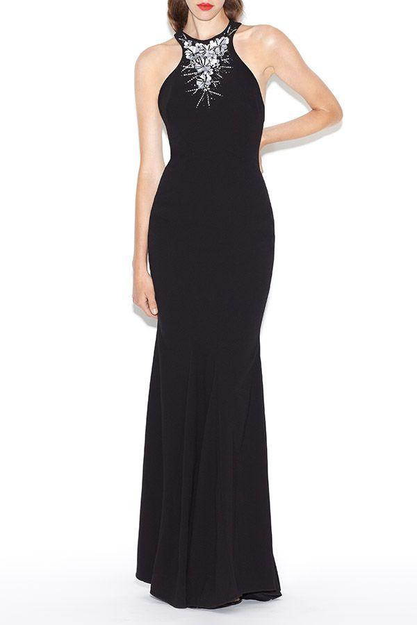 0777e250cf955 Get noticed at your next special occasion in ZAC Zac Posen s embellished   Charlize  Gown.