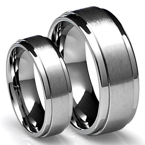 His & Hers Mens Womens Matching 14K White Gold by TallieJewelry, $979.99