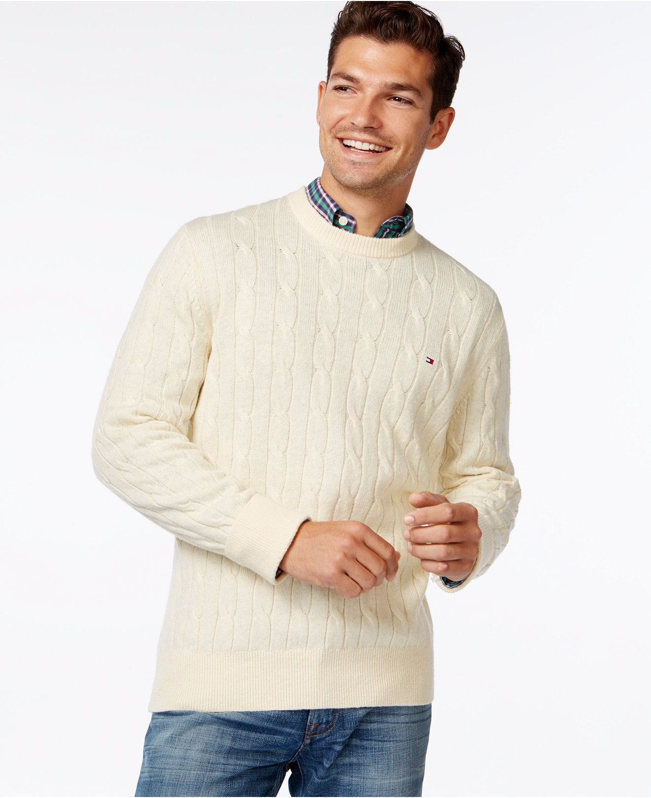 Tommy Hilfiger Intercontinental Cable-Knit Sweater, a Macy's Exclusive Style - Sweaters - Men - Macy's