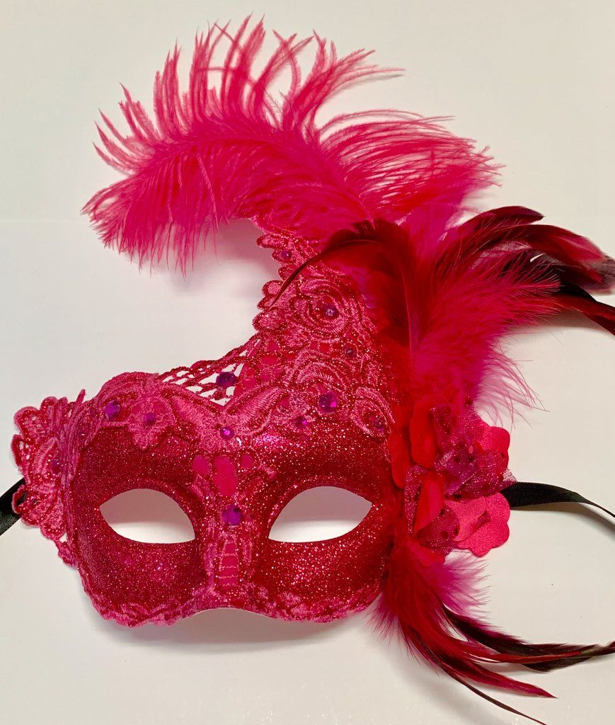 Pink Mardi Gras Mask in 2020 Mardi gras, Beautiful mask