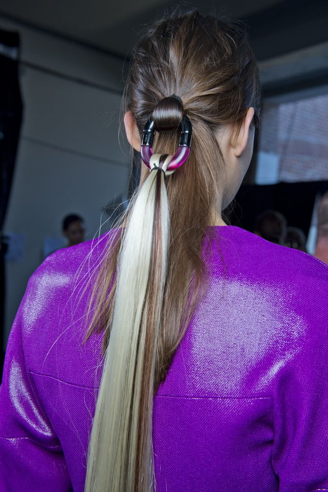 Hair as accessory for @Missoni #SS14. Hair by Eugene Souleiman #mfw