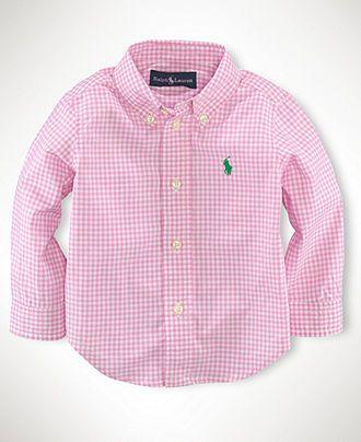 2171c74c4841f Ralph Lauren Baby Shirt, Baby Boys Blake Long-Sleeved Shirt - Kids Baby Boy  (0-24 months) - Macy's