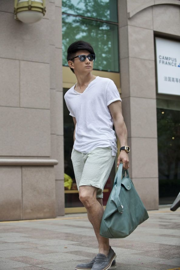 47d67f5458a6 Nicky Wu with Le Pliage Cuir - Even for man!!