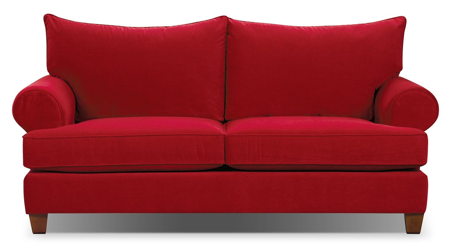 Paige Microsuede Sofa Red The Brick