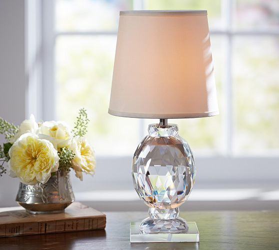 Carlotta Faceted Crystal Accent Lamp Crystal Lamp Pottery Barn Table Lamp Lamp