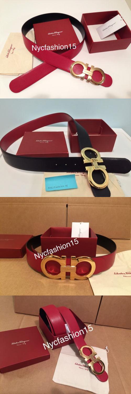 Belts 2993: 100% Authentic New Men S Red Black Reversible