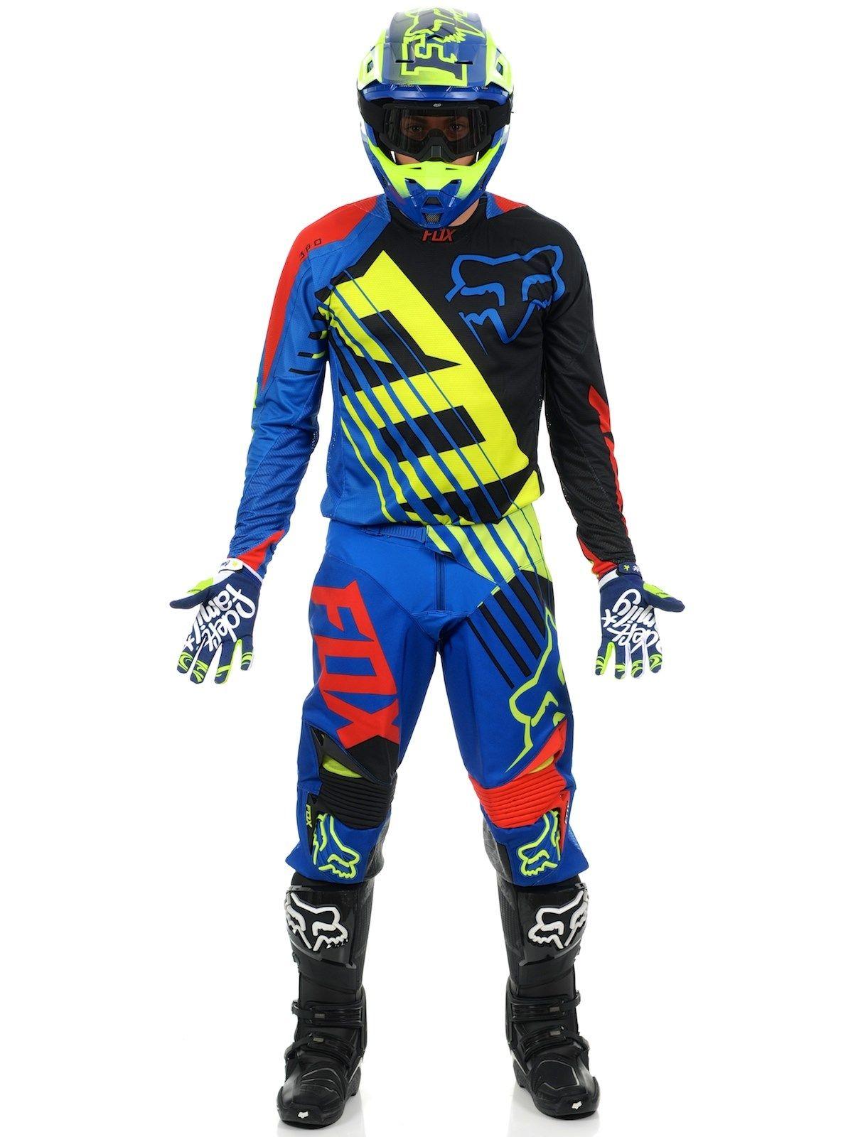 7a0c22dcc Fox Blue 2015 360 Savant MX Jersey