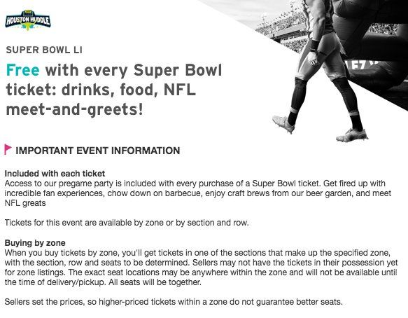 On the secondary ticket market @StubHub are giving fans who buy - how to make tickets for an event free