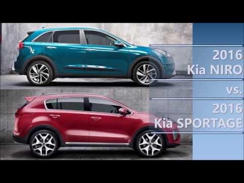 2016 Kia Niro Vs 2016 Kia Sportage Comparison Kia Sportage Kia 2017 Kia