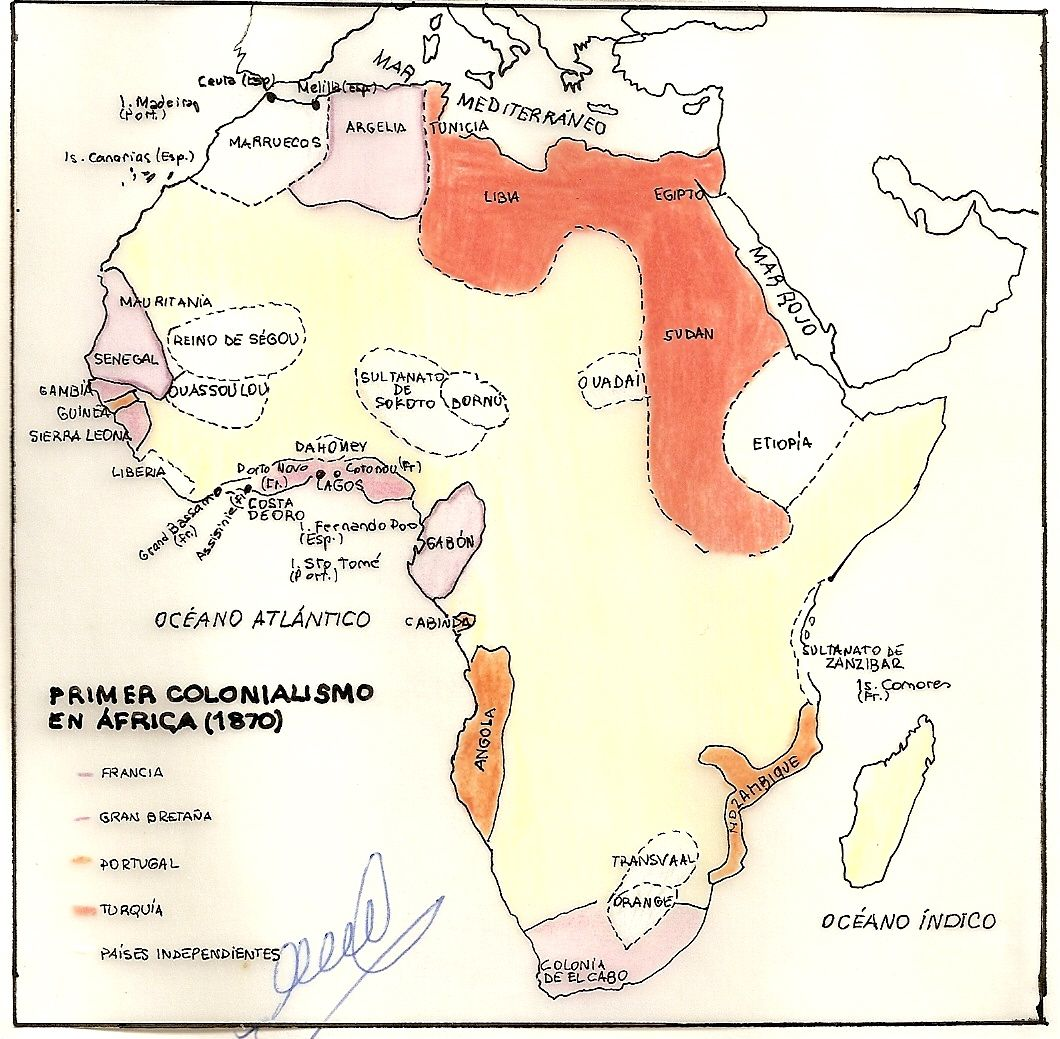 Primer Colonialismo En Africa 1870 Map Image