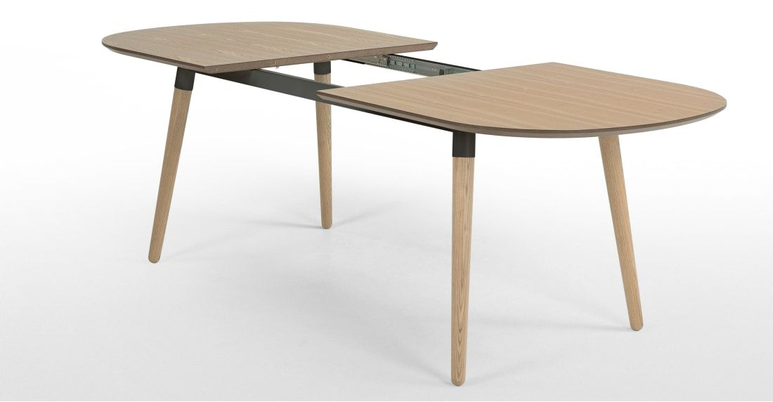 Edelweiss 6 8 Seat Oval Extending Dining Table Ash And