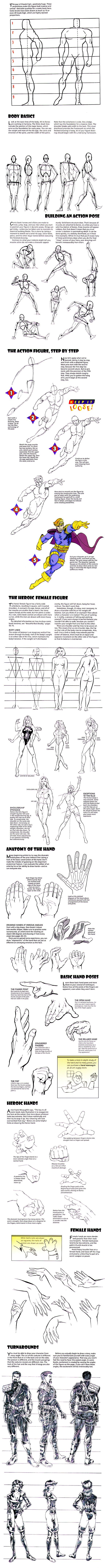 How to Draw the Human Body - Tutorial: Dynamic Heroic Character ...