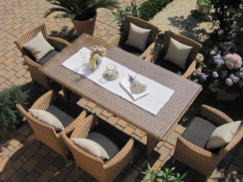 Sitzgruppe Garten Garnitur Tisch Und 6 Sessel Stuhle Rattan Polyrattan Geflecht Gartenmobel Natur Beige Braun Lyon6 Online Kaufen Bei Woonio Gartenmobel Rattanmobel Polyrattan
