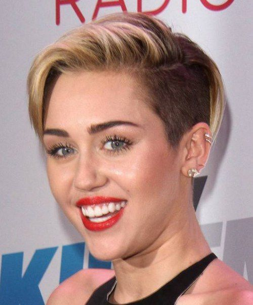 pictures of miley cyrus naked with shor hair