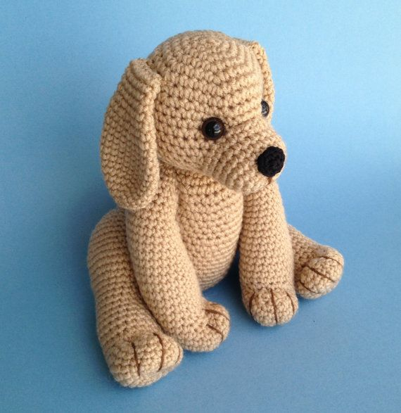 Pdf Crochet Pattern Golden Retriever Puppy English Only Dog