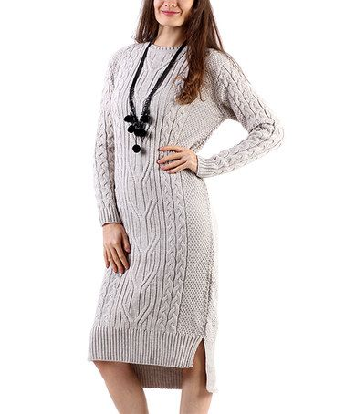 Another great find on #zulily! Stone Cable-Knit Wool-Blend Sweater Dress #zulilyfinds