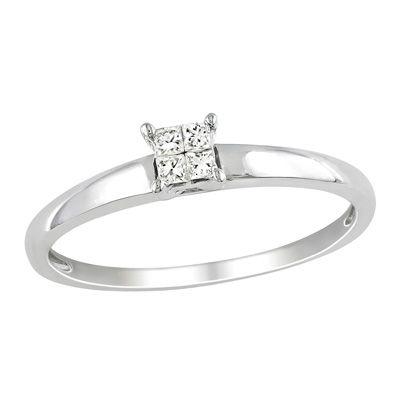 Zales Quad Princess-Cut Diamond Accent Promise Ring in 10K White Gold 9oWupcJrLi