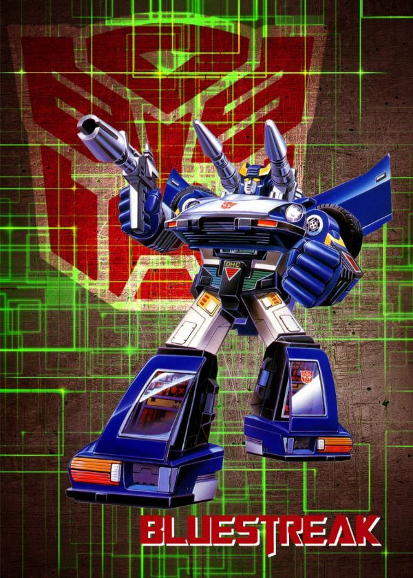 "Transformers G1 Autobots Bluestreak #Displate artwork by artist ""Wiebes"". Part of a set featuring… | Displate thumbnail"