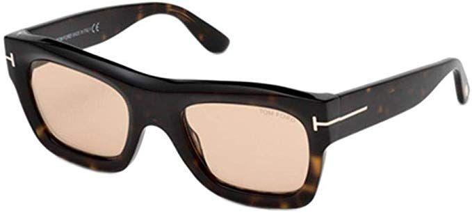 Sunglasses Tom Ford WAGNER-02 FT 0558 dark havana//light brown 52E