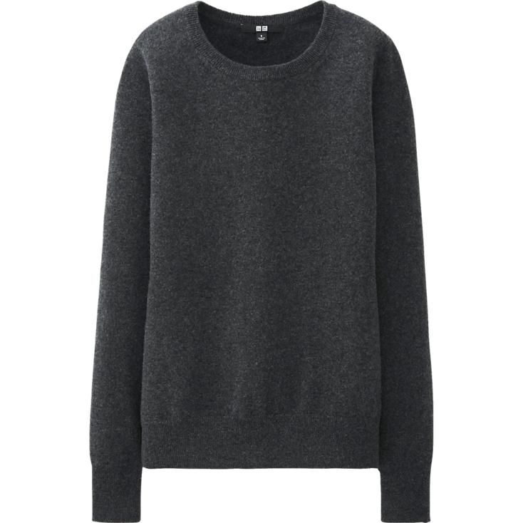 WOMEN CASHMERE ROUND NECK SWEATER | UNIQLO