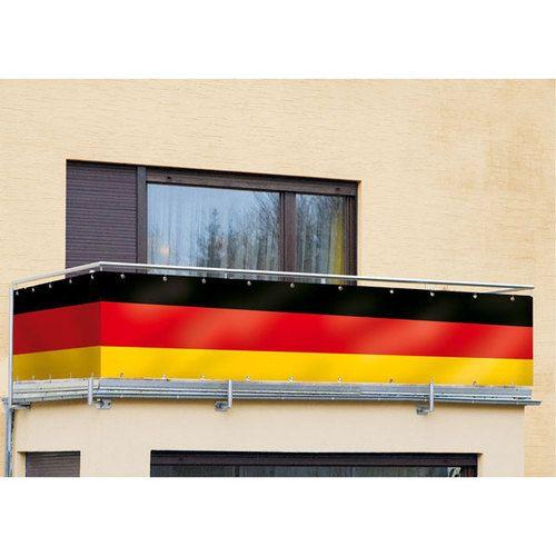 Deutschland Fahne / Sichtschutz für Balkon/Terrasse