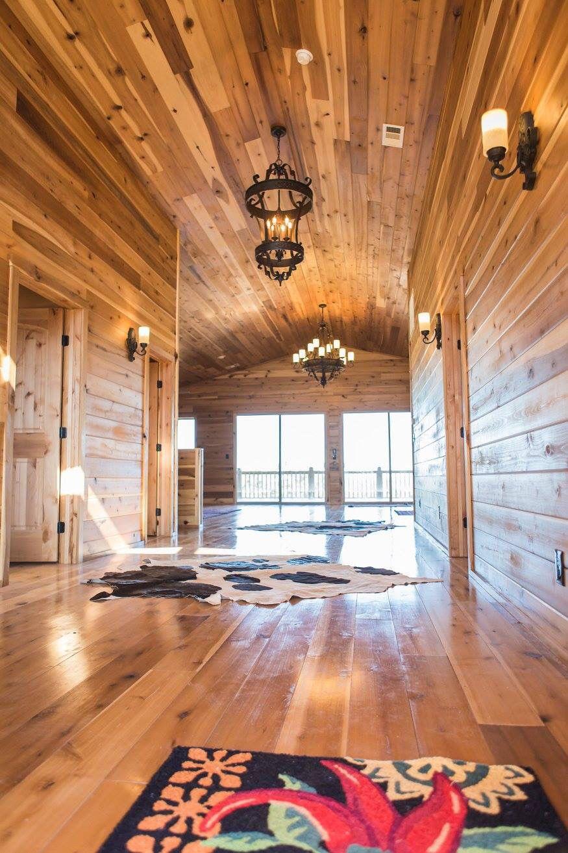 Barn home with poplar interior finish  Www.barnsandbuildings.com
