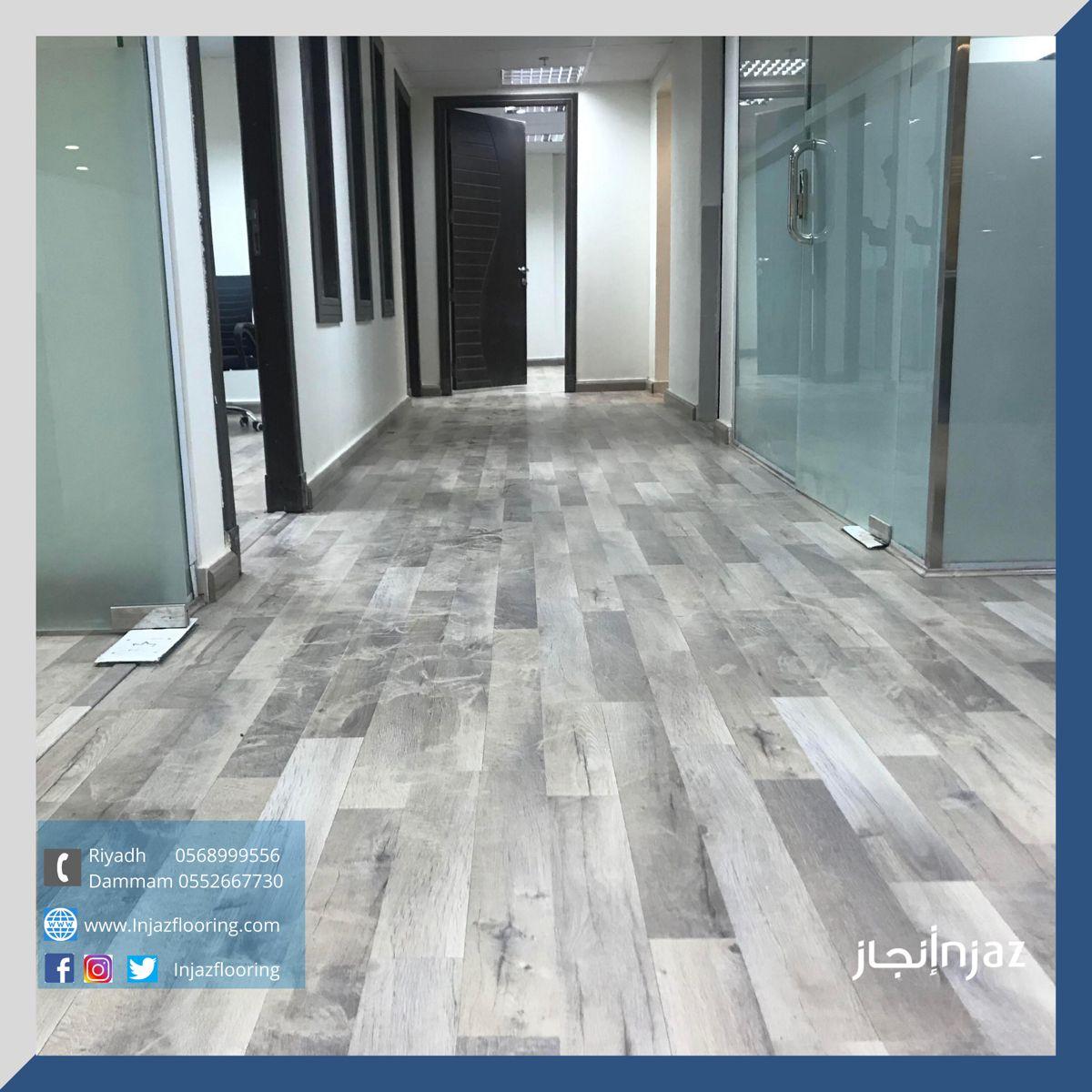 من أعمالنا تركيب باركيه صيني سماكة 6ملم في مساحة مكتبية Flooring Tile Floor