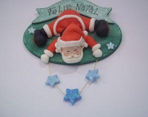 Placa de porta Papai Noel