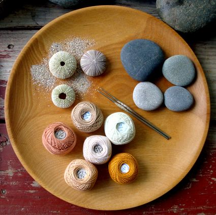 ever heard of crocheted stones?