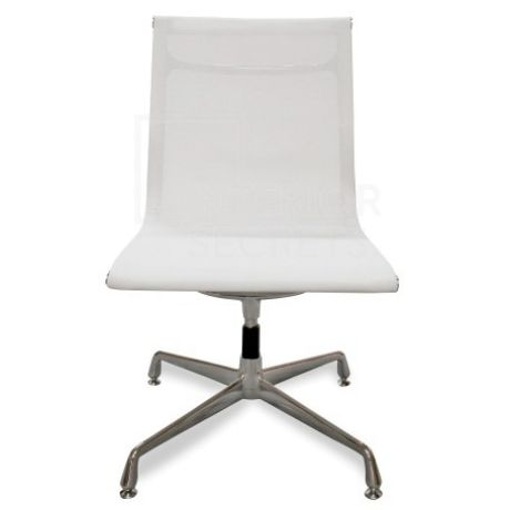 Visitor Mesh Office Chair Eames Replica White No Arms