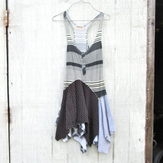 Xsmall Medium Upcycled Clothing / Patchwork Dress By