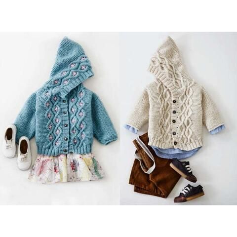 Patons® Cabled Knit Cardigan Free Download | baby sweaters ...