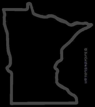Minnesota Map Outline Printable State Shape Stencil Pattern Minnesota Outline Minnesota Tattoo Map Outline