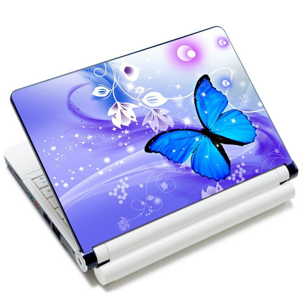 15 15 6 Inch Laptop Skin Sticker Cover Art Design Butterfly Blue