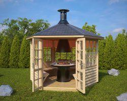 Gartenhäuser mit schneller Lieferung Hansagarten24 Bbq