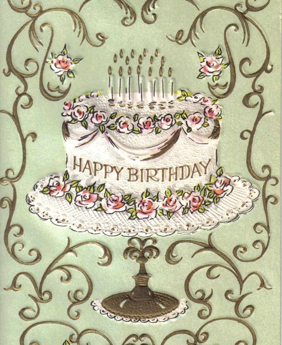 Bildergebnis für Happy Birthday cake gifs blue