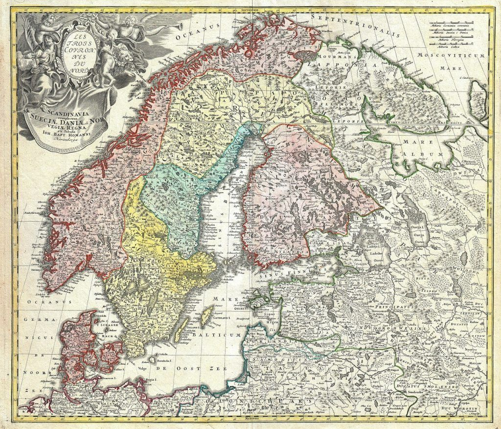 Learn About Scandinavian Naming Patterns In This Introductory Guide Get Started Finding Your Scandinavian Ancestors Historical Maps Old World Maps Vintage Map