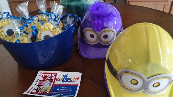 Dispicable me party favors, and game ideas. Www.facebook.com/kidnplayrentals