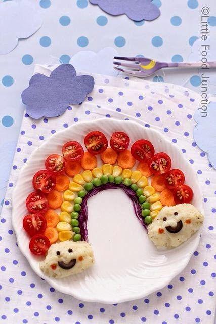 Fun rainbow food
