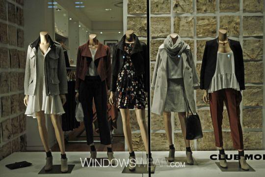 Club Monaco enero 15 #retail #window #escaparate #vitrine #display #visual #visualmerchandising Pineado por Pilar Escolano