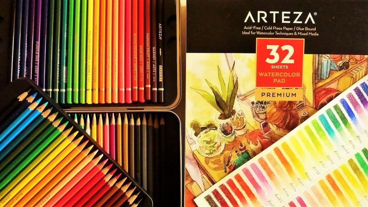 Arteza Watercolour Pencils Paper Review With Demonstrations