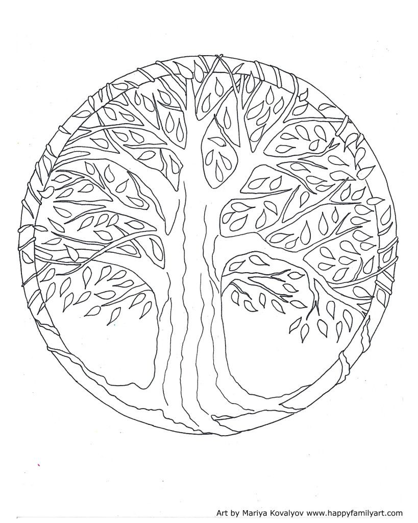 Treemedium Mandala Coloring Pages Cool Coloring Pages Tree